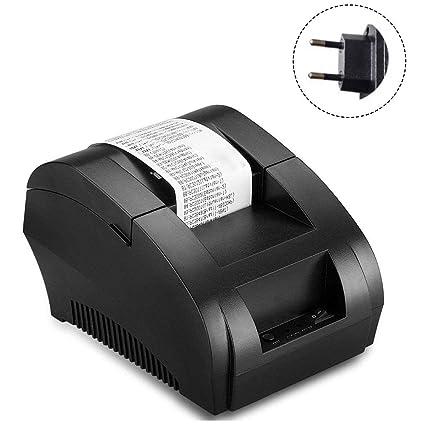 gaeruite 58mm Mini Impresora térmica de Recibos, Impresora de Tickets de Recibos USB Compatible con ESC/POS, Velocidad 90mm Cada Segundo