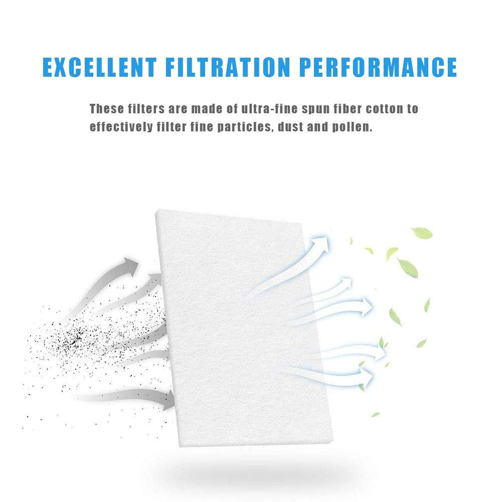 20 PCS Filtro CPAP Para Resmed Airsense Premium Accesorios De Filtro Universal De Repuesto Desechables Filtro CPAP Para Dispositivos CPAP S9 S10 Dispositivos AirCurve 10-S9 AirStart Series CPAP.