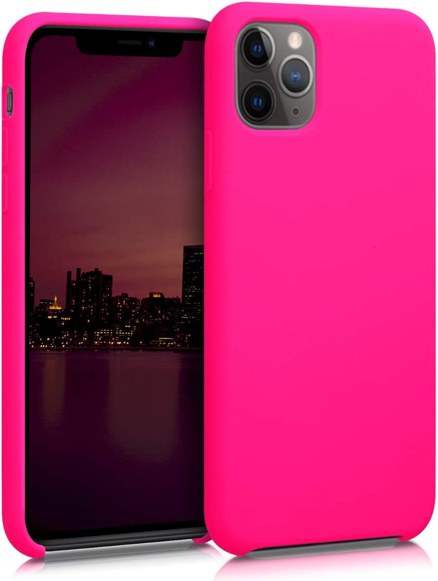 kwmobile TPU Silicone Case Compatible with Apple iPhone 11 Pro - Soft Flexible Rubber Protective Cover - Neon Pink