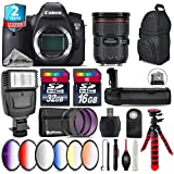 Canon EOS 6D DSLR Camera + Canon EF 24-70mm 2.8L II USM Lens + Battery Grip + 6PC Graduated Color Filer Set + 2yr Extended Warranty + 32GB Class 10 Memory Card + Backpack - International Version