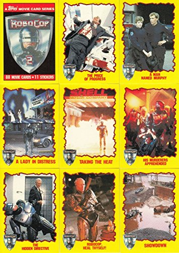 ROBOCOP 2 THE MOVIE 1990 TOPPS COMPLETE BASE CARD & STICKER SET 88 + 11 ()