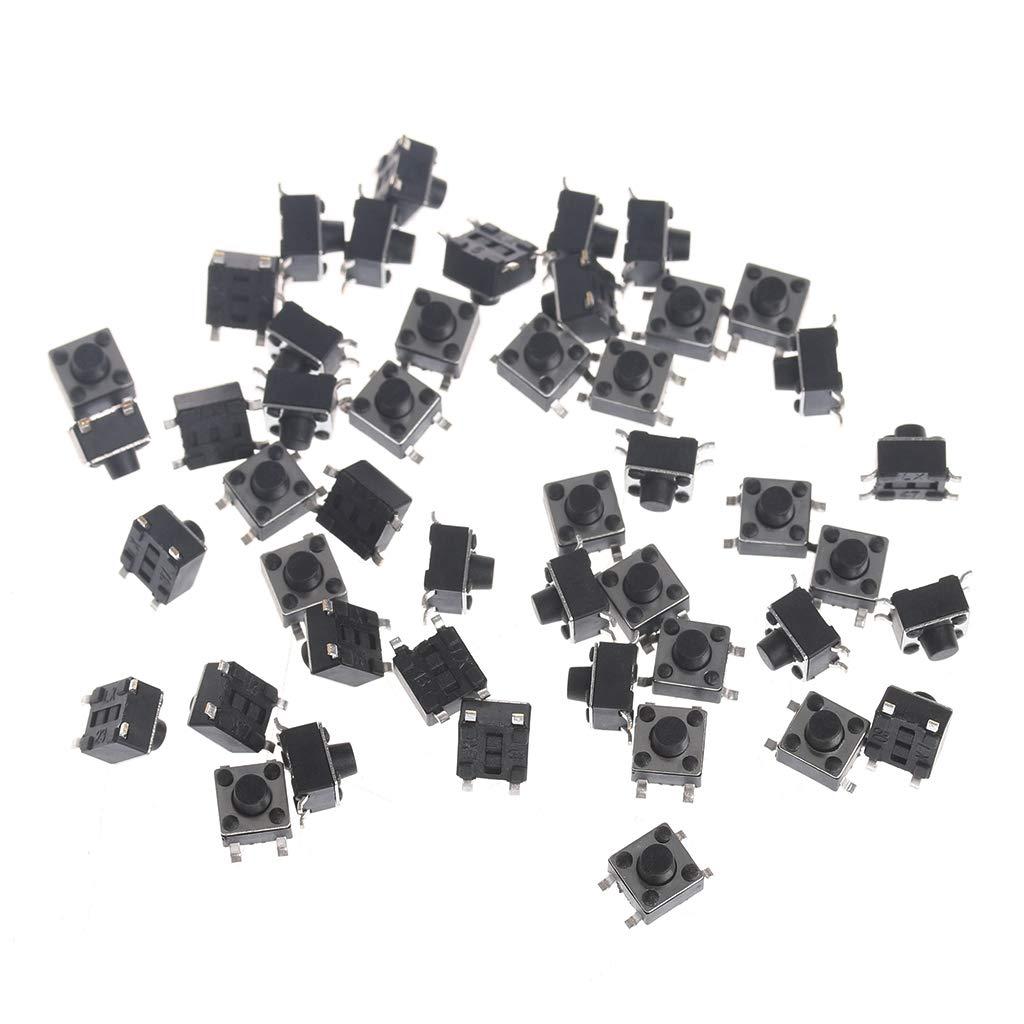 KINTRADE Interruttore Pulsante Patch 4.5 * 4.5 * 4.3 Instant Touch Reset Pulsante microinterruttore SMD a 4 Pin (100 1 Confezione)