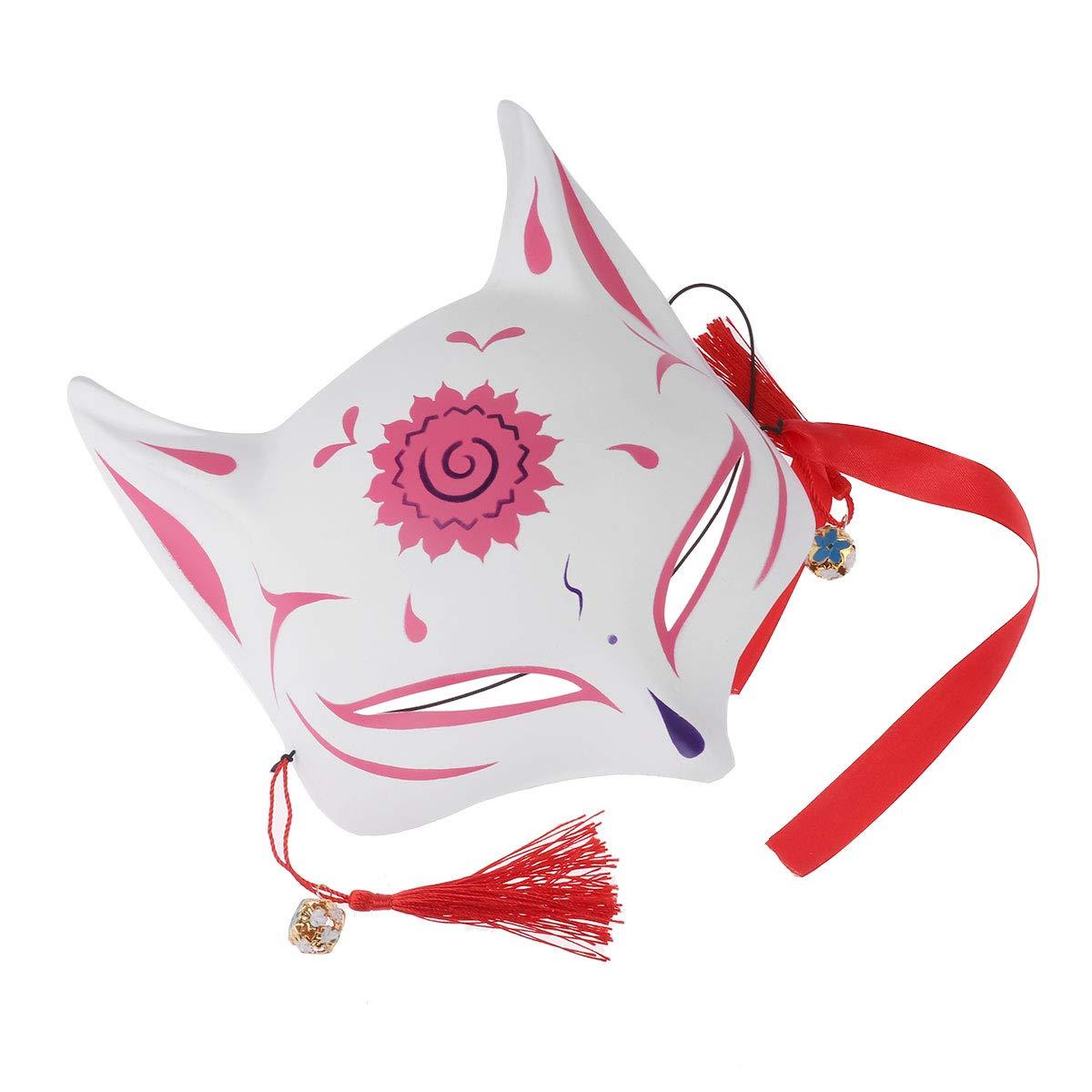 A B Baosity Halloween Maske Fox Gesichtsmaske Fuchs Kost/üm Zubeh/ör