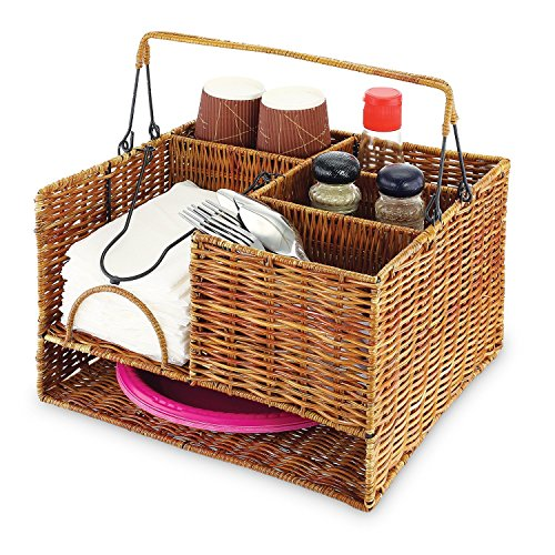 KOVOT Tabletop Organizer Wicker Basket
