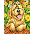 Dimensions Puppy Gardener Paint by Numbers for Adults, 9'' W x 12'' L
