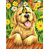 Dimensions Crafts Paintworks Paint by Number Kit, Puppy Gardener
