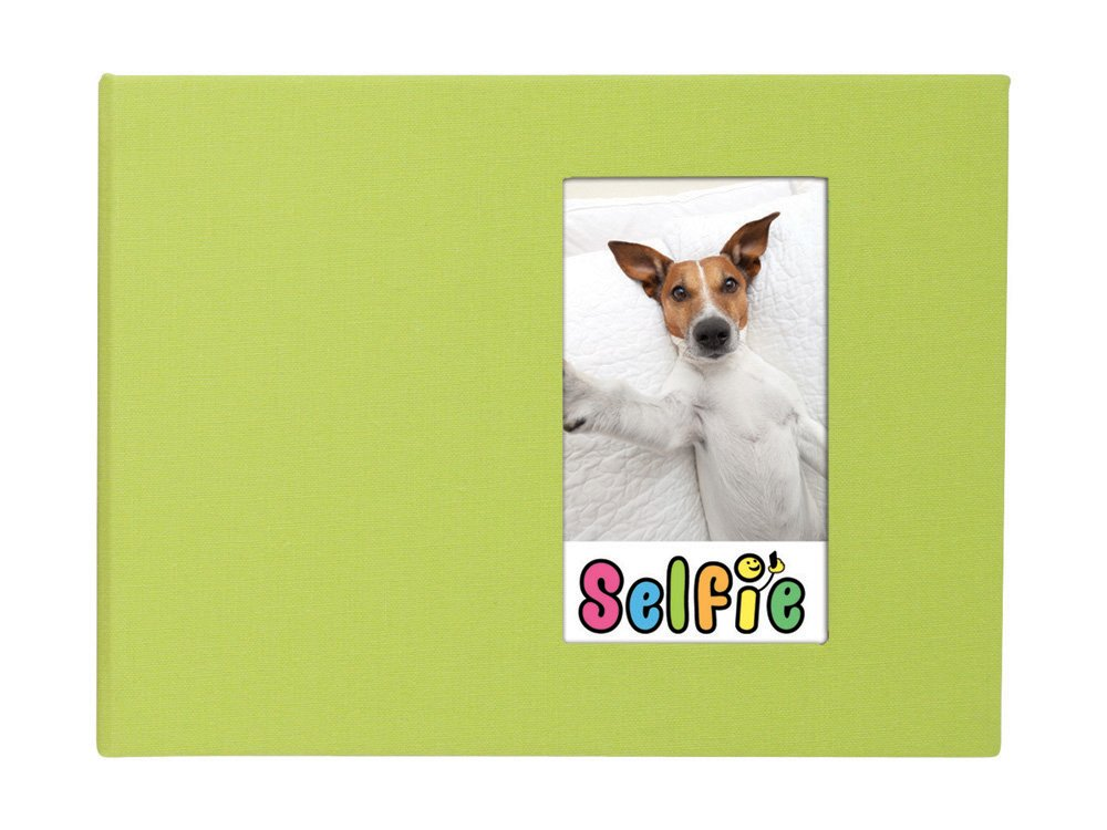 Selfie 2.25'' x 3.5'' Photo Album - Holds 40 Photos (Lime) for Polaroid PIF-300 Instant & Fuji Instax Mini Film