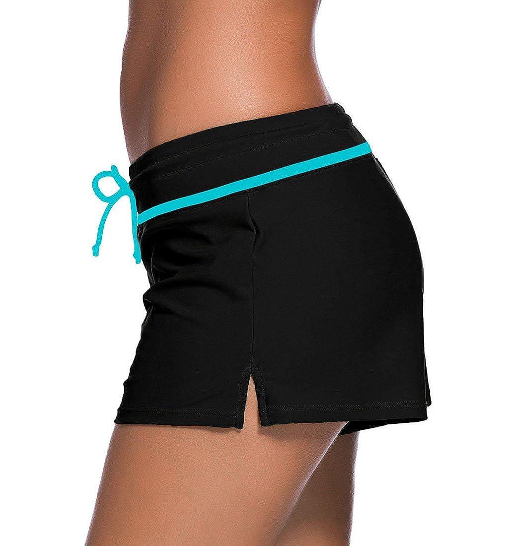 32990bcb73f6d YoungSoul Shorts de Bain Femme - Maillot de Bain Boxer Cordon de Serrage - Tankini  Shorty - Uni - Bas de Maillots: Amazon.fr: Vêtements et accessoires