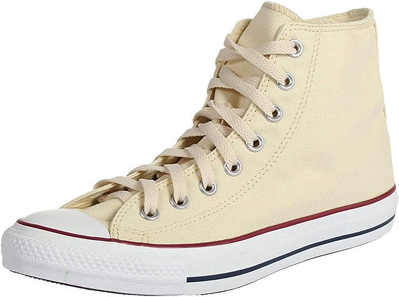 2b4d95b4497 Converse Unisex Shoes All Star Hi Unbleached Beige White Fashion Sneakers  (3.5 Men s   5.5