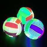 hou zhi liang Pelota de Rebote con luz LED, Iluminación de Música ...