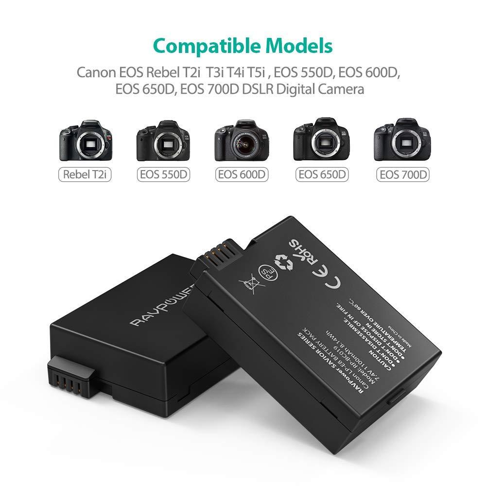 Amazon.com: LP-E8 RAVPower - Juego de 2 baterías de repuesto ...
