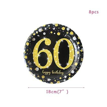 QUQUET Adulto 30/40/50/60 / 70th Cake Toppers Decoraciones ...