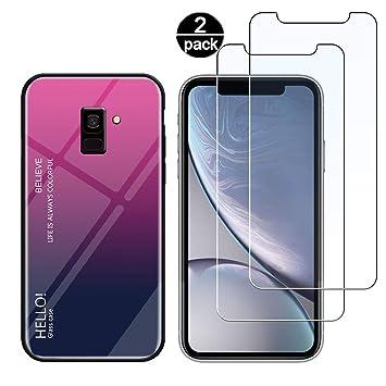 Funda para Samsung A8 2018 + [2 Pack] Protector Pantalla ...