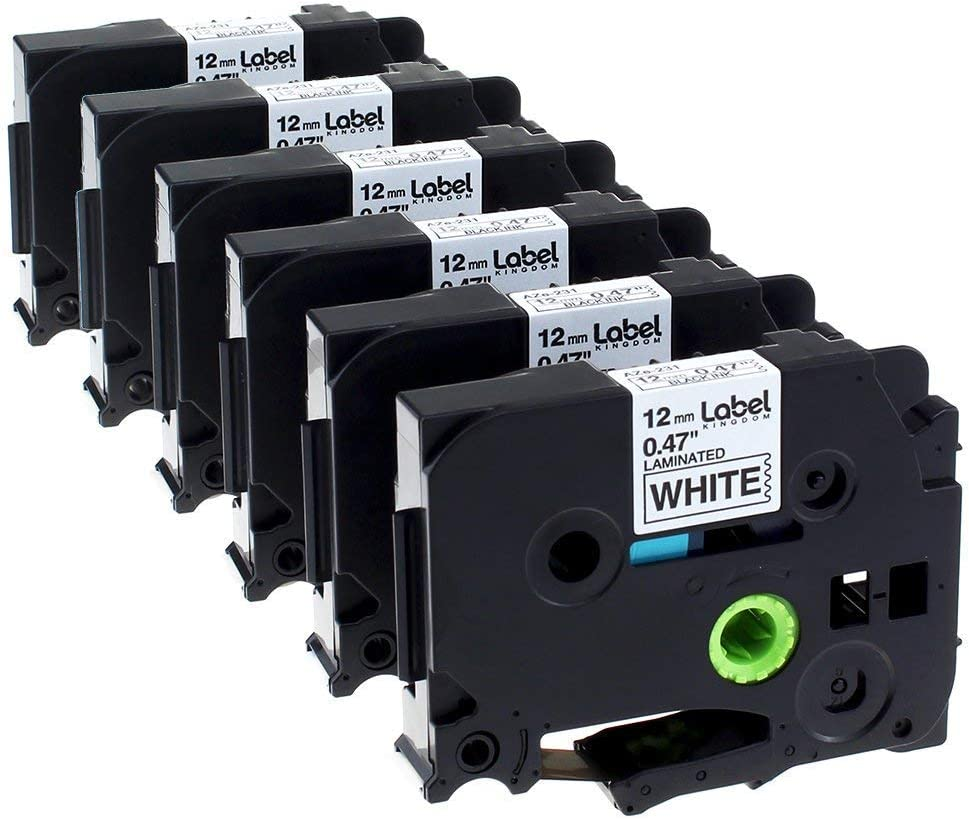 """US Stock 5PK TZ 151 TZe-151 Black on Clear Label Tape For Brother P-Touch 1/"""""""