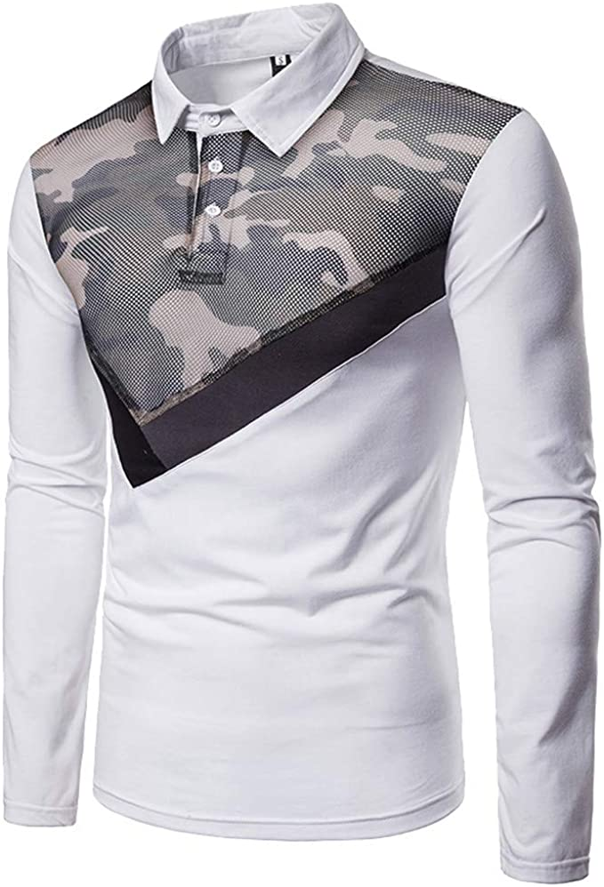 Hommes Chemise Manches Longues Camouflage Chemise manches longues shirts long manche top grande taille