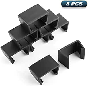 Patio Wicker Outdoor Furniture Sectional Sofa Alignment Fasteners Clips Clamps Connectors [8PCS Medium Size]
