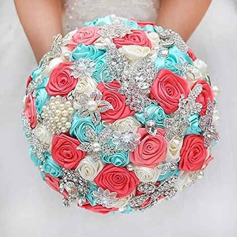 Amazon IFFO DIY Brooch Bouquet Silk Bride Bridal Wedding