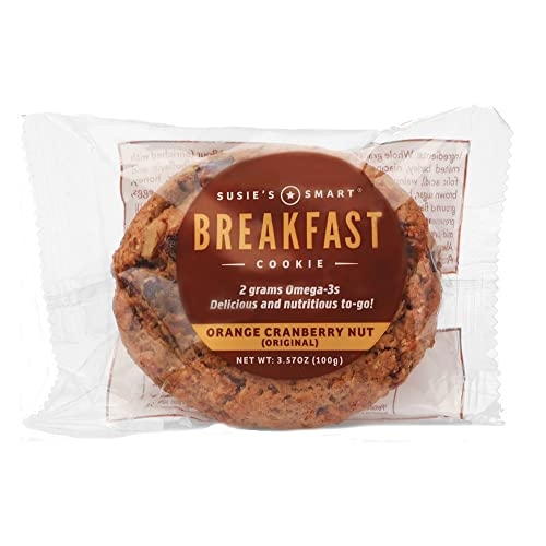 Susies Smart Breakfast Cookie Orange, Cranberry, Nut Breakfast Cookie, 3.5 Ounce (Pack