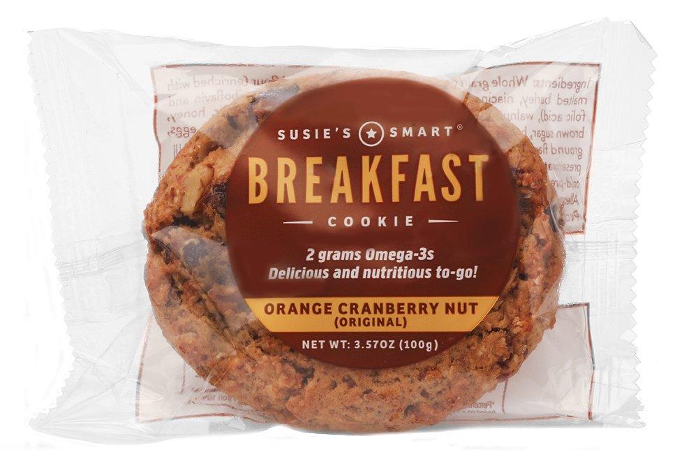 Susie's Smart Breakfast Cookie Orange, Cranberry, Nut Breakfast Cookie, 3.5 Ounce (Pack of 18) by Susie's Smart Breakfast Cookie (Image #1)