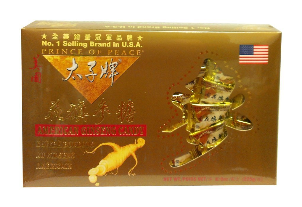 Prince of Peace American Ginseng Root Candy Gold Gift Box 8 Oz x 3pk