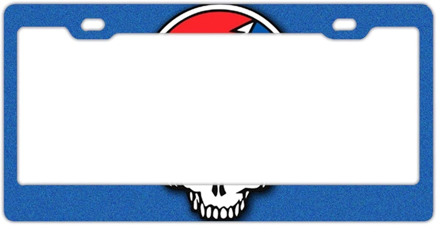 Have A Grateful Day Grateful Dead Chrome License Plate Frame Customizable License Plate Frame
