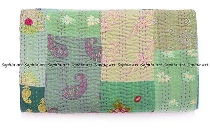 Sophia Art Handmade Vintage Patchwork King Size Home Decorative Kantha Reversible Quilt, Kantha Bedspread, Indian Blanket, Kantha Throw, Coverlet ...