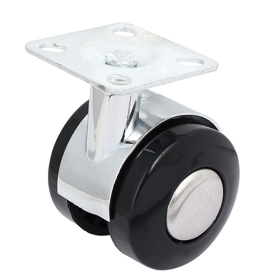 eDealMax 1, 5 pulgadas de diámetro 60mm Altura Doble Ruedas Flat Top placa giratoria ruedas giratorias 5pcs: Amazon.com: Industrial & Scientific