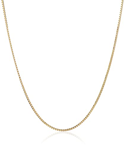 14k Gold Solid Box Chain Necklace (.50mm)