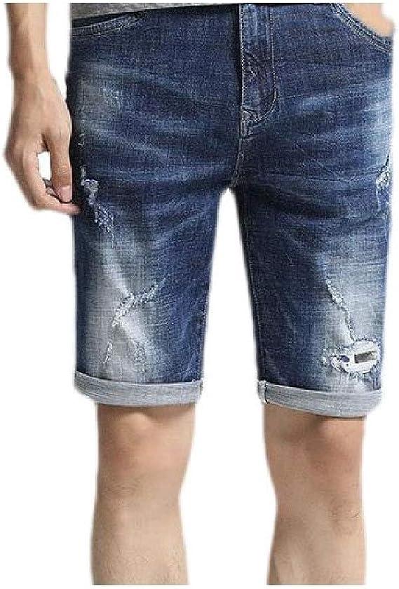 VITryst メンズ薄い伸縮性ポケットリッピングカジュアルピュアカラージャンショートパンツ