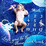 Double-Sided-Baby-Monthly-Milestone-Blanket-Large-60×40-Photography-Backdrop-Photo-Prop-for-Newborn-Girls-Boys-Perfect-Baby-Shower-Gift-for-New-Moms-Premium-Quality-Ultra-Soft-Fleece-Blanket