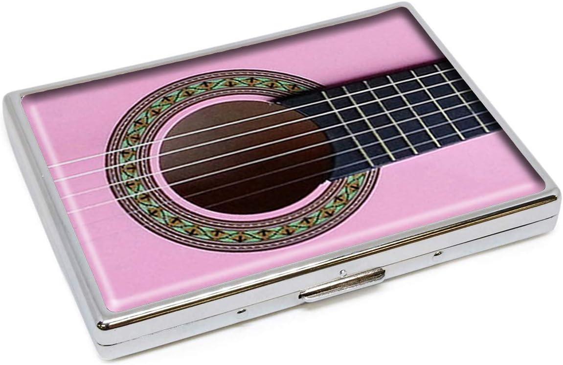 Estuche para Cigarrillos de Acero Inoxidable con diseño de Guitarra acústica Azteca Rosa: Amazon.es: Equipaje
