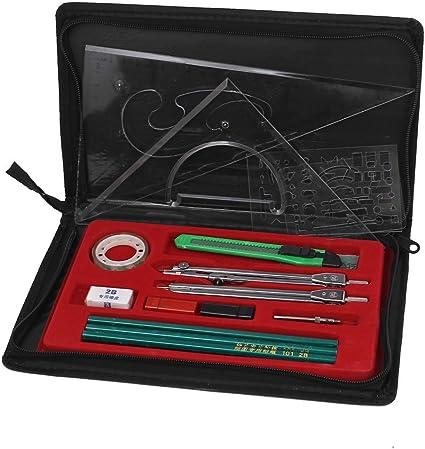 Mapper mecánica Brújula Plotter Combinación Dibujo del sistema de herramienta 16 en 1: Amazon.es: Oficina y papelería