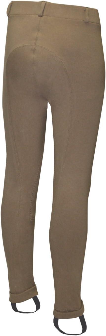 ELATION Horseback Riding Pants for Girls /& Boys Euro Seat Tan Classic Breeches