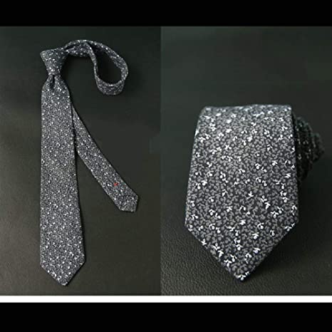 QMCKDH Corbatas de algodón de 6 cm para Hombre Corbatas de ...