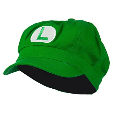 e4Hats.com Circle Mario and Luigi Embroidered Cotton Newsboy Cap - Lime  (M-L) b36212d9c138