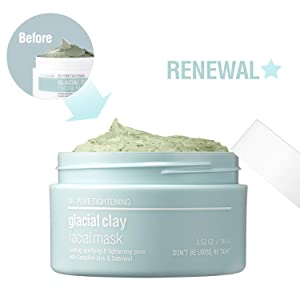 [SKIN&LAB] Glacial clay mask with Canadian glacial clay, pore tightening, controlling sebum, soothing, deep cleansing 100g, 3.5oz