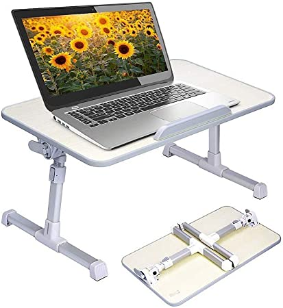 Support R/églable pour Ordinateur Portable Bureau Table Portable Pliable