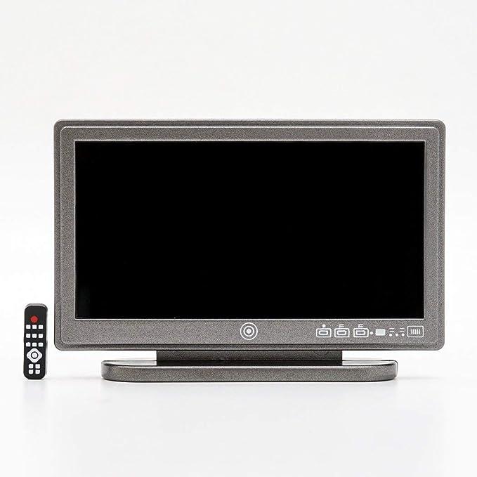 1:25 Dollhouse Miniature TV a schermo piatto LCD a schermo piatto
