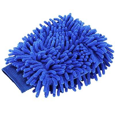 TYONMUJO Car Washing Mitt Microfiber Chenille Gloves Scratch-Free Wash Kit Blue 2 Pack Waterproof: Garden & Outdoor