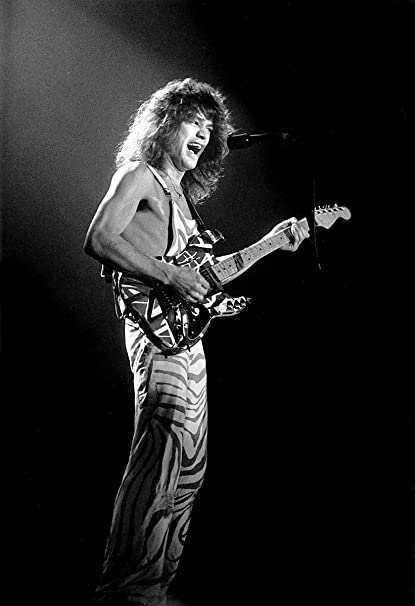 Canvas Eddie Van Halen Plays Guitar in Concert Art Print Poster