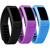 Henoda Replacement Wristband with Metal Clasps for Garmin Vivofit Bands