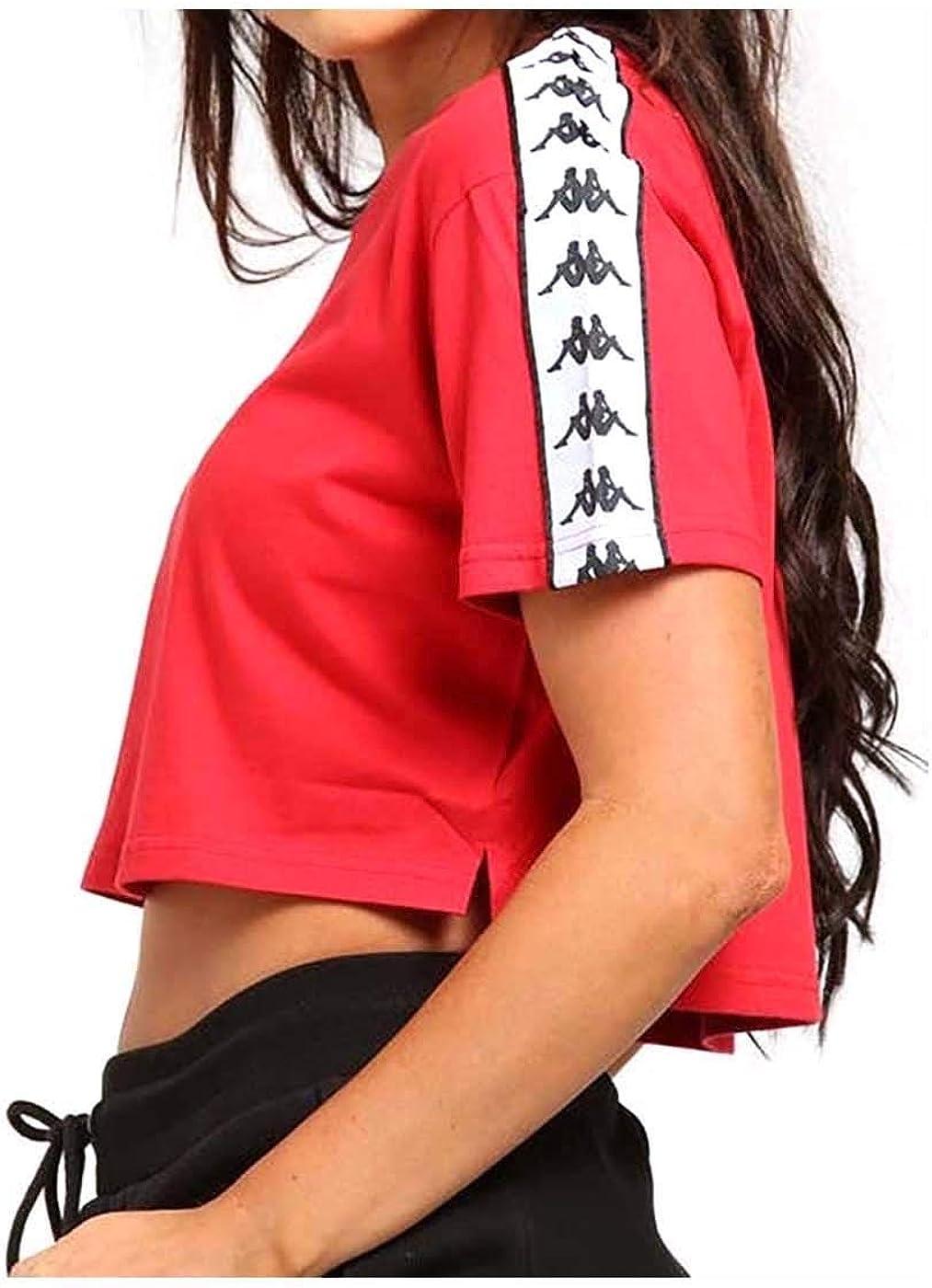 Kappa T-Shirt Apua Rosso Donna