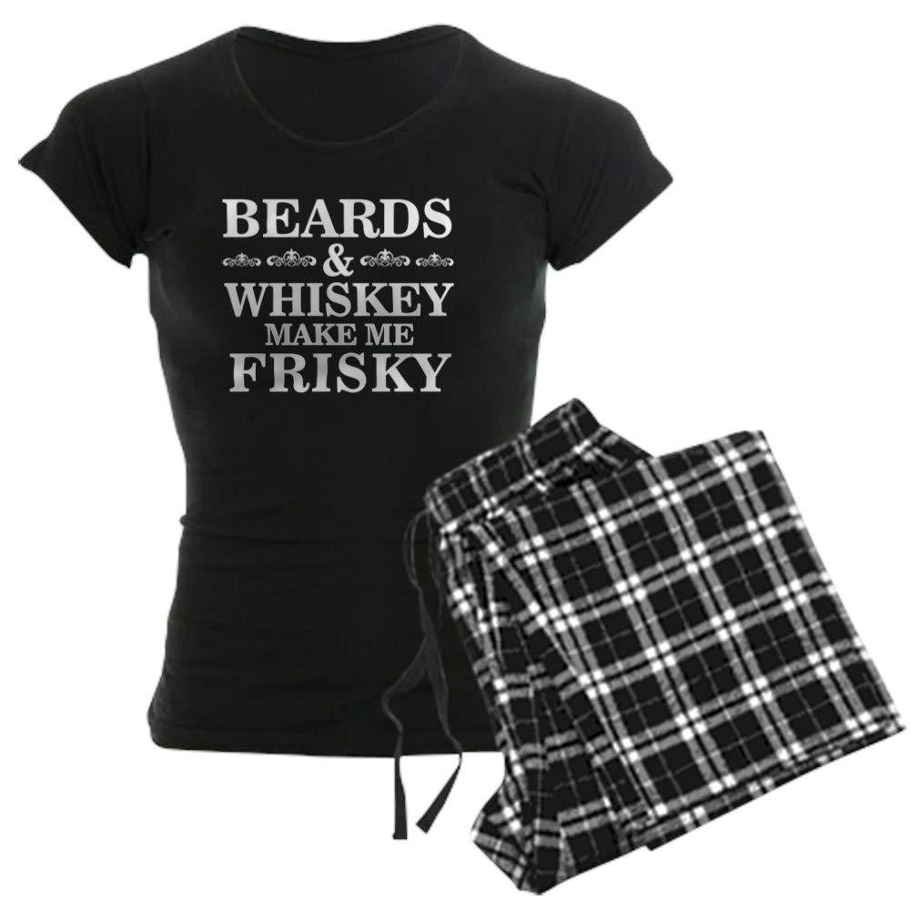 CafePress Beards and Whiskey Make Me Frisky Womens PJs