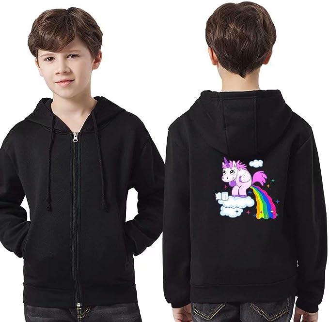 maglione  bambino ragazzo Felpa con cappuccio da 3 a 12 anni