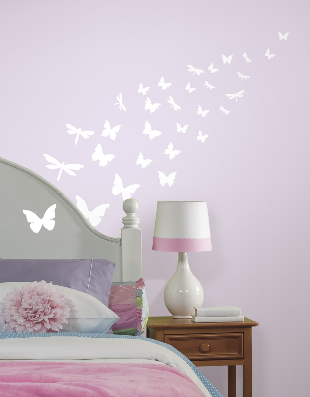 Amazon glow in the dark butterflies amp dragonfly wall amazon glow in the dark butterflies amp dragonfly wall decals home kitchen amipublicfo Image collections