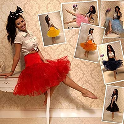 """26 /""""50s Retro-Vintage-Swing-Unterrock Petticoat Fancy Net Rock Rockabilly Tutu"""