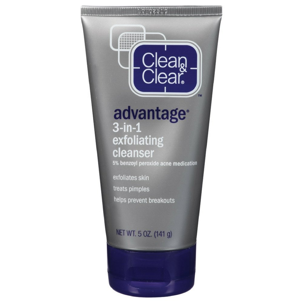 CLEAN & CLEAR ADVANTAGE 3-In-1 Exfoliating Cleanser 5 oz (Pack of 24)