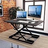 1homefurnit Standing Desk Converter – 32x22 Inch Extra Large Height Adjustable Sit Stand up Desk Converter Instantly Convert any Desk into Standing up Workstation
