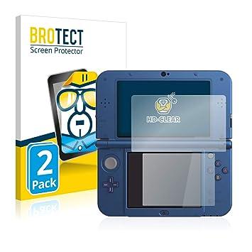 BROTECT Protector de Pantalla para Nintendo New 3DS XL [2 Unidades] - HD-Transparente, Anti-Huellas, Anti-Burbujas