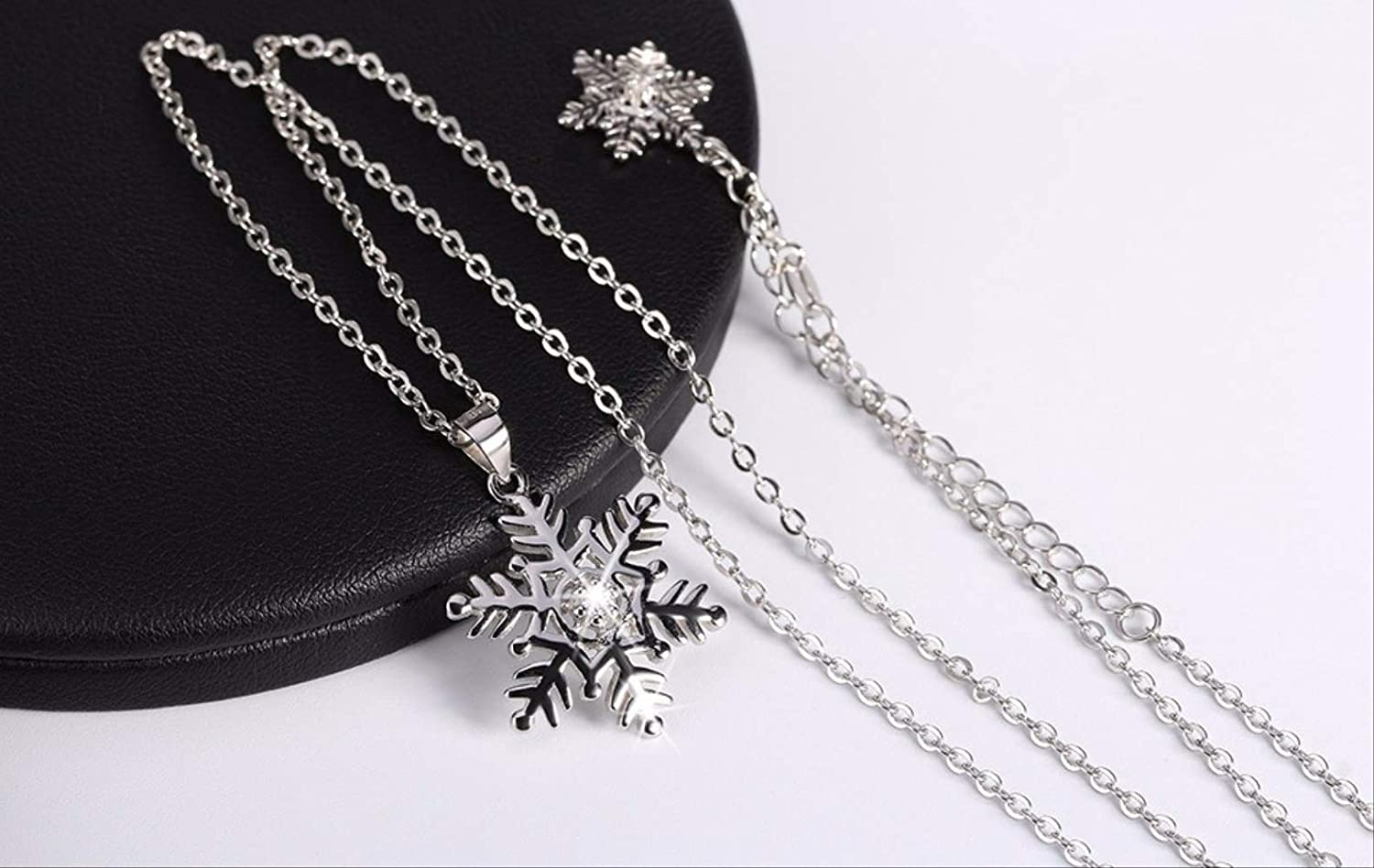Haiyuan Bracelet Genuine Silver RWowflake Pendant Necklaces for Men//Women 925 Sterling Silver Necklace Jewelry Lovers Gift RW07